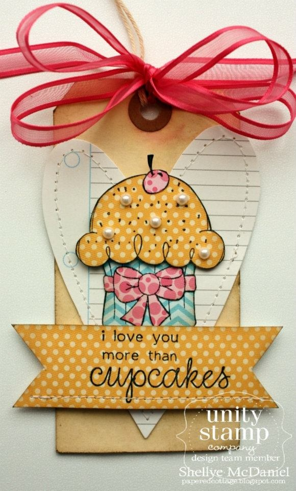 {more than CUPCAKES} stamp of the week from unity stamp company - card created by Unity Design Team Member Shellye McDanielsUnity Stamps, Cupcakes Tags, Unity Design, Current Stamps, Crafts Tags, Cards Tags, Tags You R, Cupcakes Rosa-Choqu, Cards Create