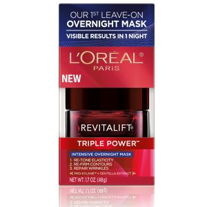 Recommended in Oprah magazine for good anti-aging cream. RevitaLift Triple Power™ Intensive Overnight Mask