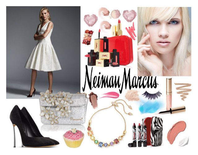 """The Holiday Wish List With Neiman Marcus: Contest Entry"" by alena-hodzic ❤ liked on Polyvore featuring Neiman Marcus, Sisley Paris, Eddie Borgo, Carmen Marc Valvo, By Terry, NYX, Yves Saint Laurent, Casadei, Dsquared2 and Manic Panic"