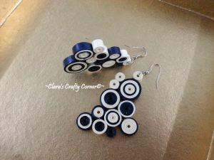 Striped Blue Candy Crush Earrings