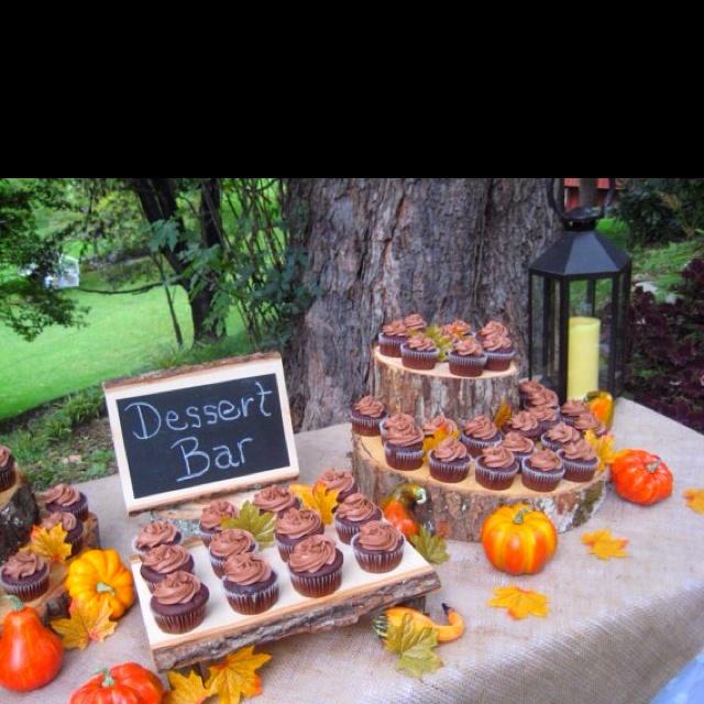Cupcakes in the garden