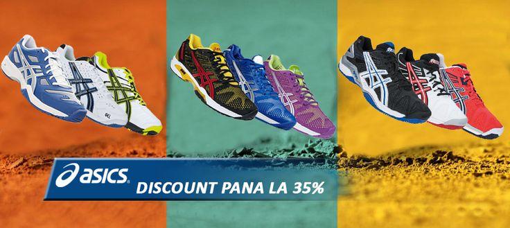 DISCOUNT pana la 35% la pantofi de tenis Asics. Promotie valabila pana la 31.07.2014!  http://www.tenisshop.ro/Tenis-De-Camp/Pantofi-Tenis/Producator=Asics/Filtrare.html