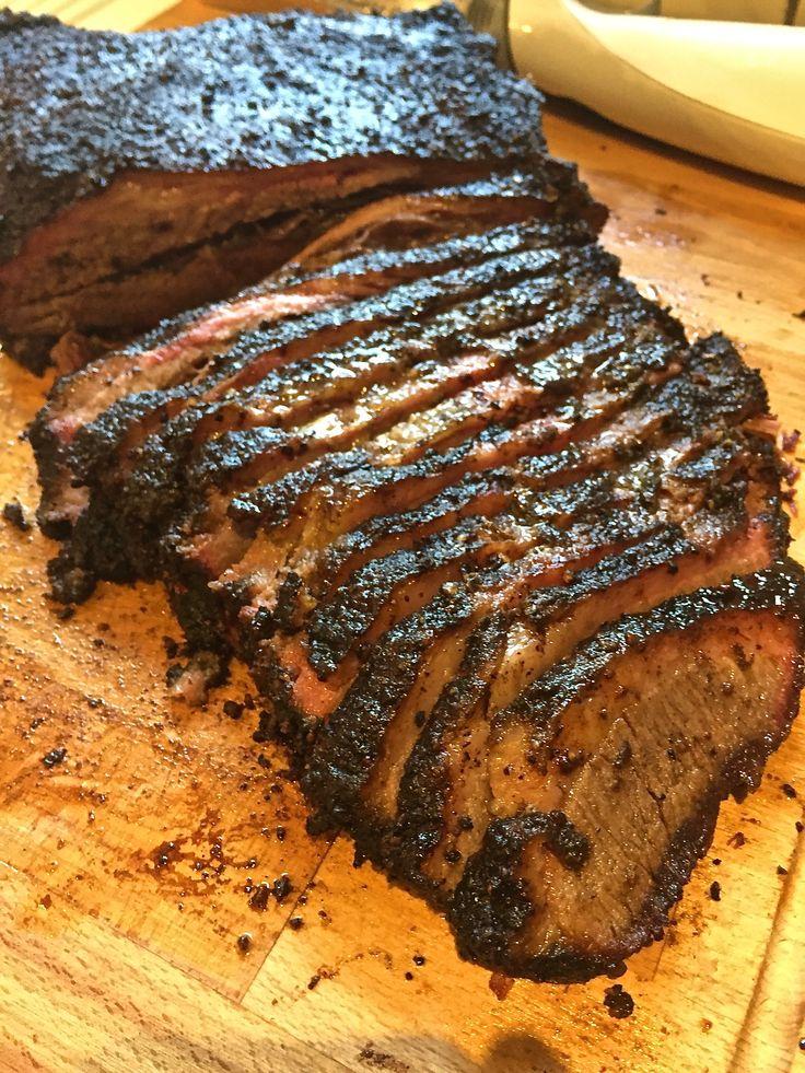 [Homemade] Central-Texas Style Smoked USDA Prime Brisket... because America.