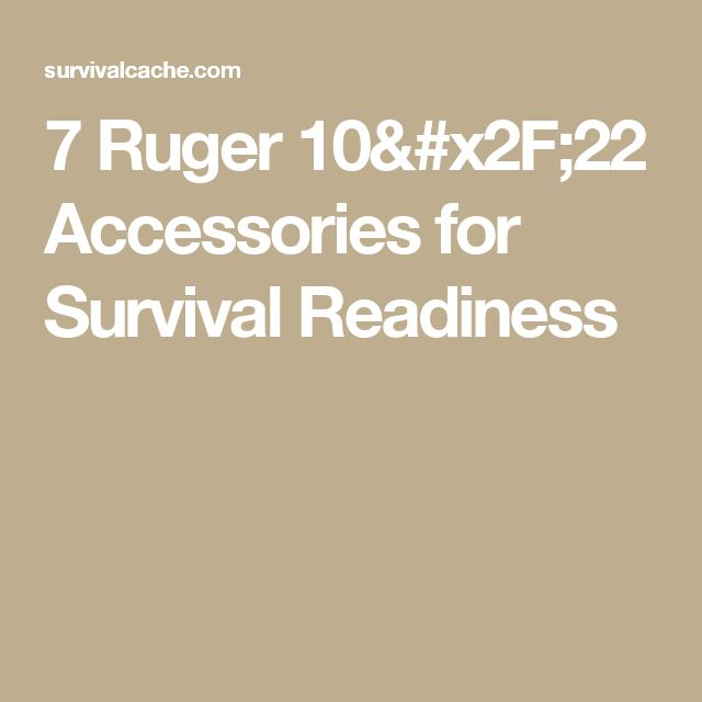 7 Ruger 10/22 Accessories for Survival Readiness