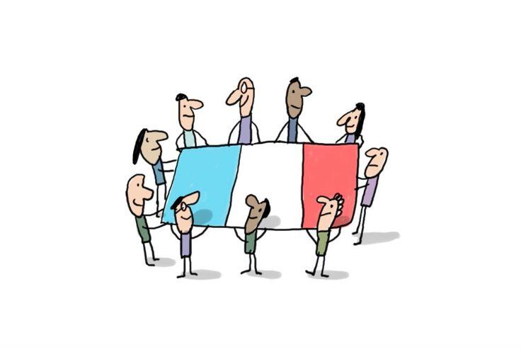 Après les attentats du 13 novembre, le président de la République a demandé aux Français d'afficher des drapeaux bleu blanc rouge en hommage aux victimes de ces attaques. Cette vidéo t'explique pourquoi le drapeau français est bleu blanc rouge.