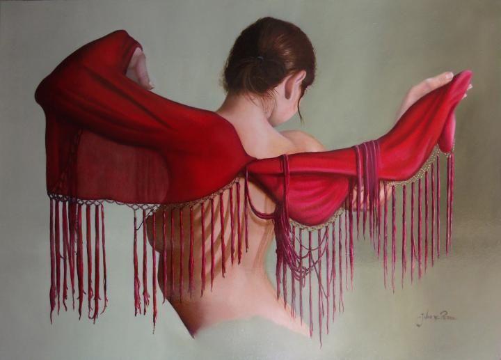 Little fringed red blanket