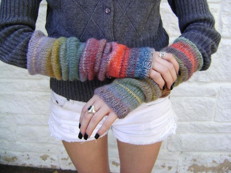 My Knit Arm Warmers are perfect for the slightly warmer days ahead. - sz