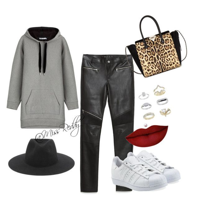 Untitled #29 by missreddy on Polyvore featuring polyvore, fashion, style, T By Alexander Wang, Zara, adidas Originals, Valentino, Topshop, rag & bone and Anastasia Beverly Hills