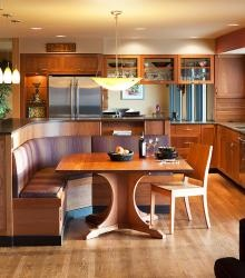 1000 images about kitchen on pinterest banquettes for Kitchen island booth