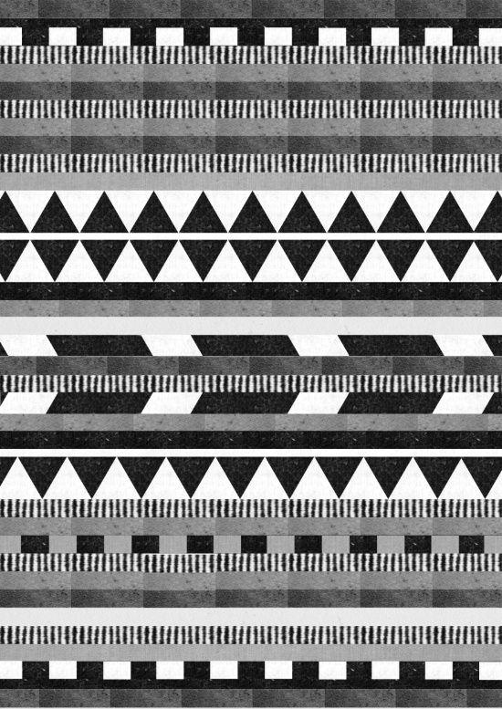 DG Aztec No1 Monotone Art Print