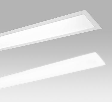 """2"""" & 4"""" TRIM & TRIMLESS  An architectural recessed luminaire designed for continuous lengths in trim, trimless, and grid ceiling applications. Featuring extruded aluminum housings with narrow 2"""" and 3.5"""" apertures. A highly efficient frosted lens provides even illumination in flush and unique drop down versions."""