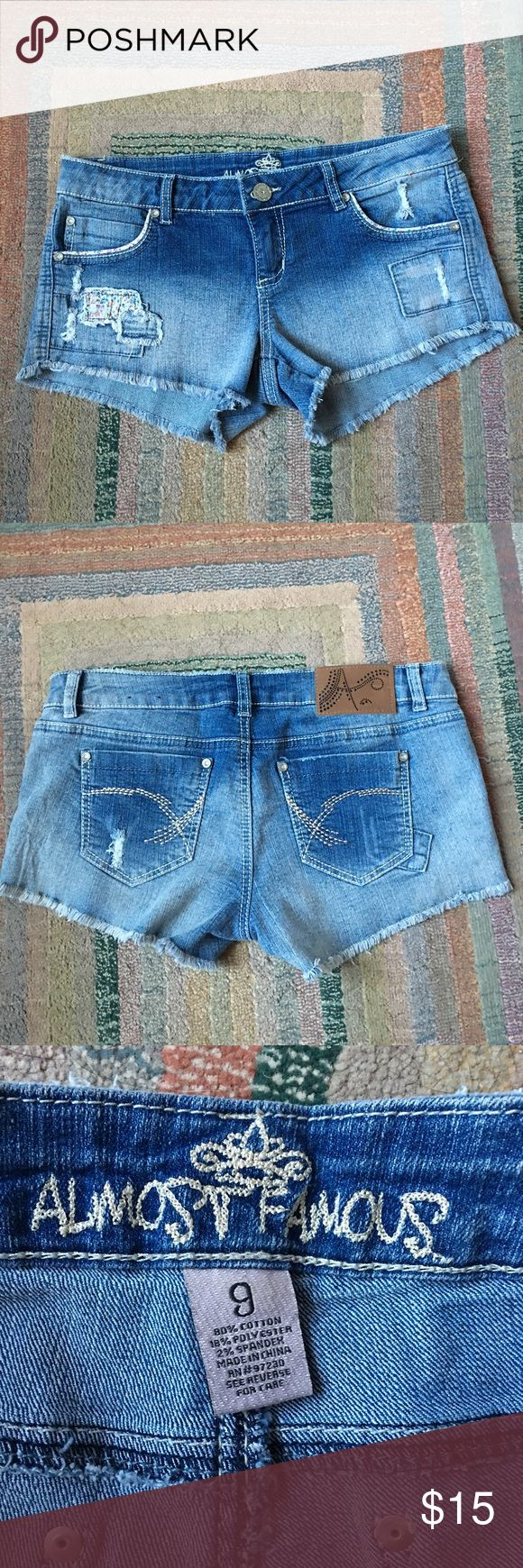 NWOT Patchwork Shorts Bought but never worn. Almost Famous Shorts Jean Shorts