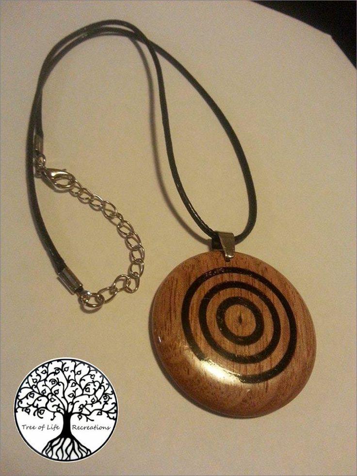 Hand Turned Tasmanian Oak (with Segmented Centre) Pendant with adjustable leather necklace by TLRecreations on Etsy