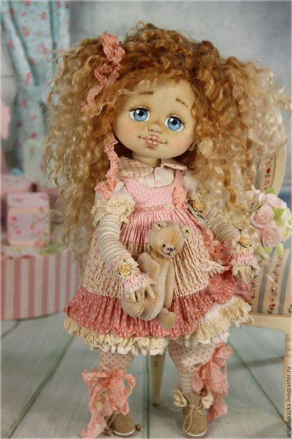 Клёпочка (резерв) . Кукла авторская текстильная Шебби-шик