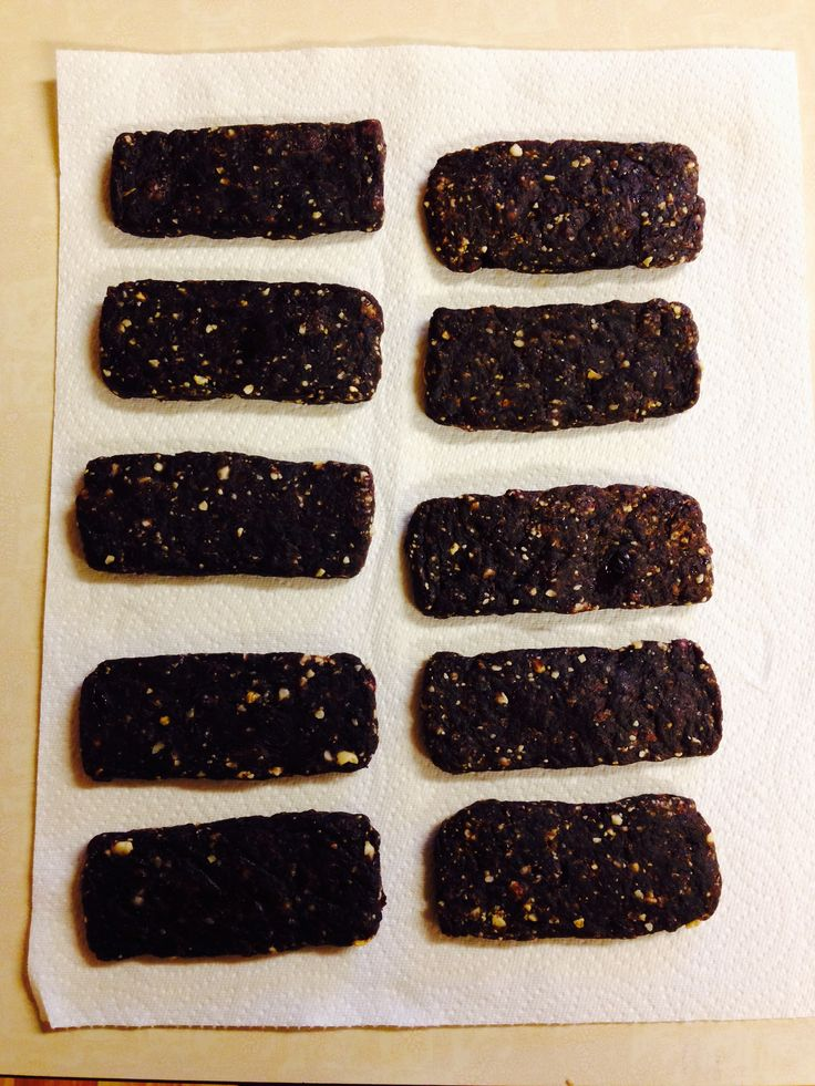 Dehydrated Homemade Epic Bars