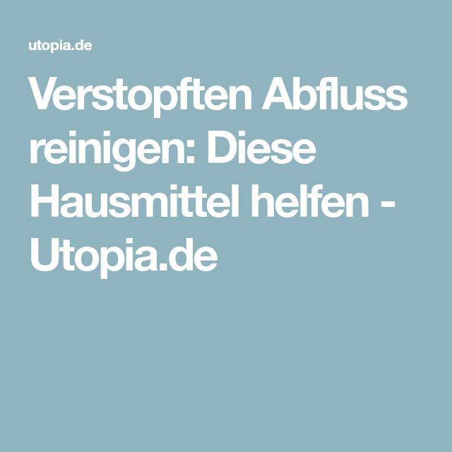 Verstopften Abfluss reinigen: Diese Hausmittel helfen - Utopia.de