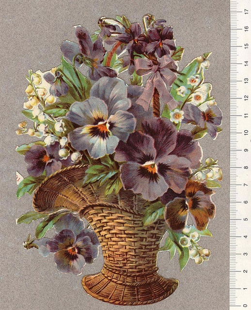 Blomkorg-penseer by Cilla in Sweden, via Flickr. Pansies!