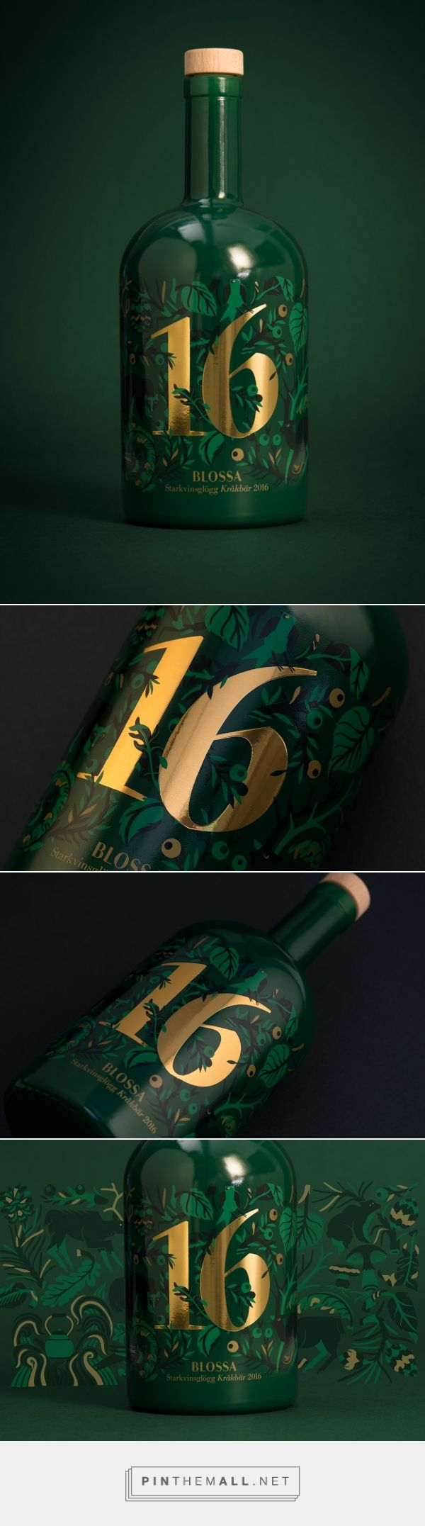 Blossa Annual 2016 mulled wine packaging design by Scandinavian Design Group (Sweden) - http://www.packagingoftheworld.com/2016/09/blossa-annual-2016.html