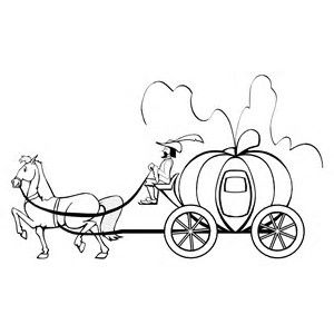 image result for cinderella carriage coloring pages