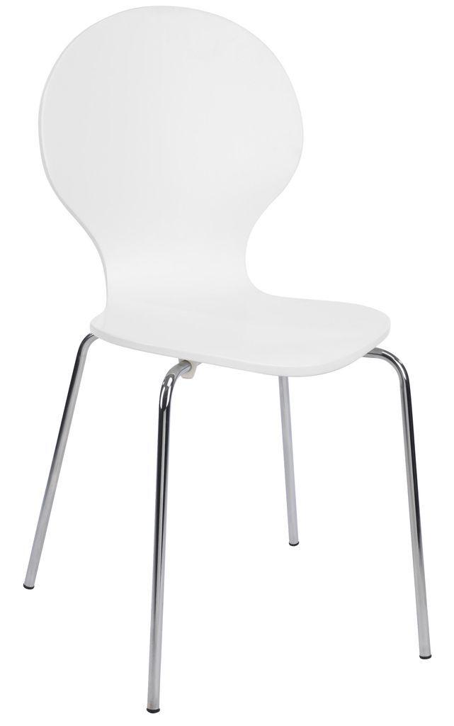 Krzesło RUBEN chromowane białe w JYSK.