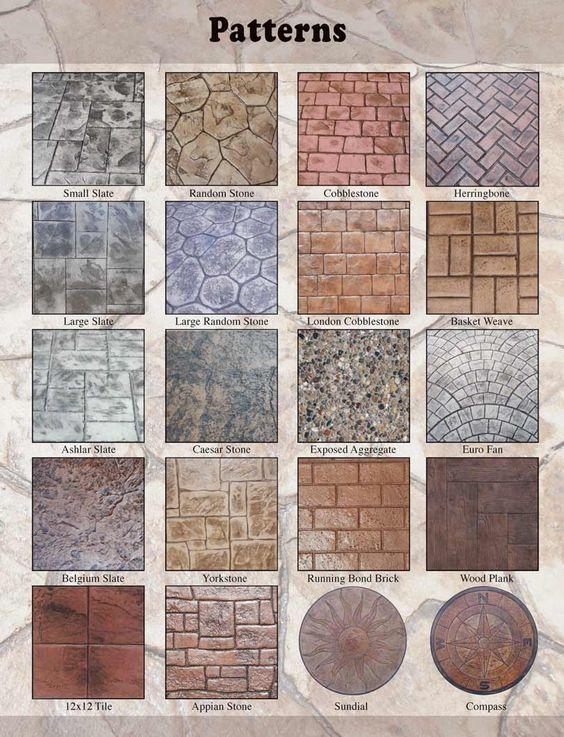 77 Best Concrete Stamp Patterns Images On Pinterest