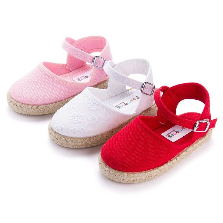 Alpargatas para Niñas con Hebilla , Calzado Infantil Online Pisamonas