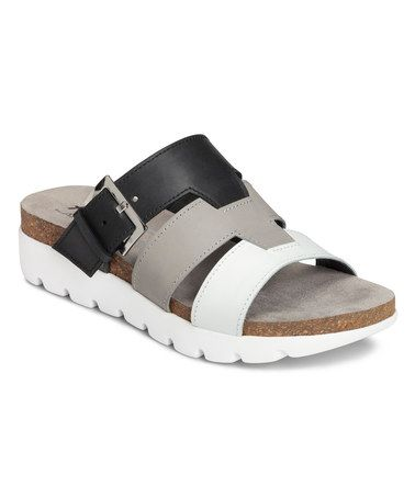 Look what I found on #zulily! Black Good Throw Leather Sandal #zulilyfinds