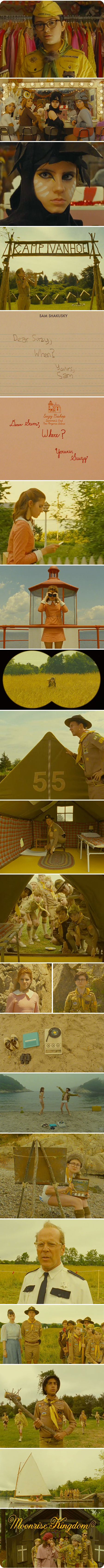 ps. As I said, one of my favorite things about any Wes Anderson film is the typography – and this time is no different. The script for Moonrise Kingdom is perfect. Thanks to a tweet from Tina Roth Eisenberg of @swissmiss, I found out that it was designed by Brooklyn based letterer/illustrator Jessica Hische. Lovely ♥