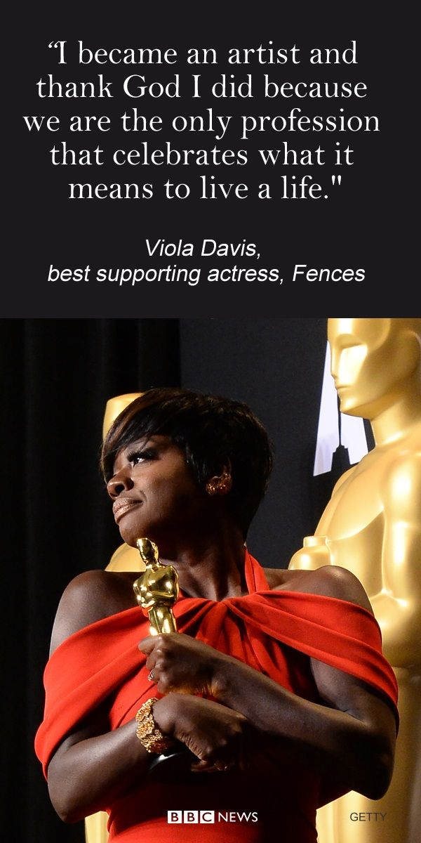 Viola Davis talked about why acting and being an artist means so much to her. She won best supporting actress in the 2017 Oscar's for her portrayal of Rose in Fences.