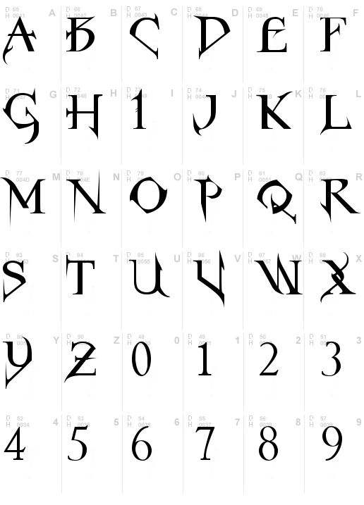 Gothic Fonts | Horst Roman Gothic Font, Download Horst Roman Gothic .ttf truetype or ...