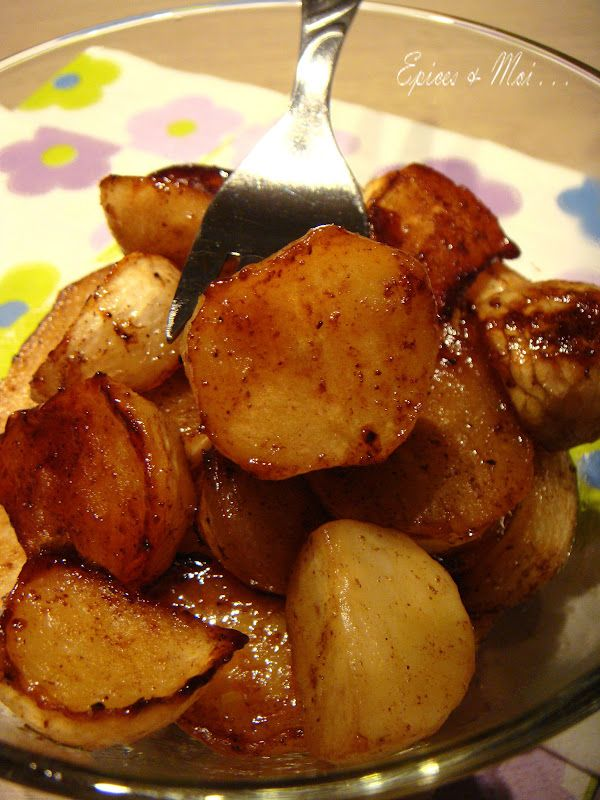 Épices & moi - Navets confi-caramélisés, miel & cannelle