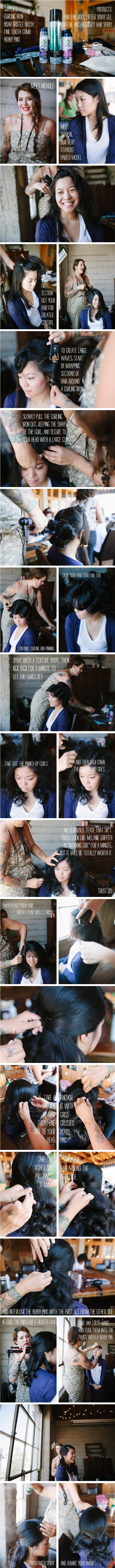 Simple Half-Up Half-Down Do  i'll need this for the weekend...  @Jillian Yoder - what do you think?