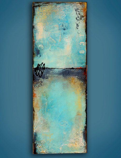Abstrakte Malerei auf Holz Abstract von erinashleyart auf Etsy