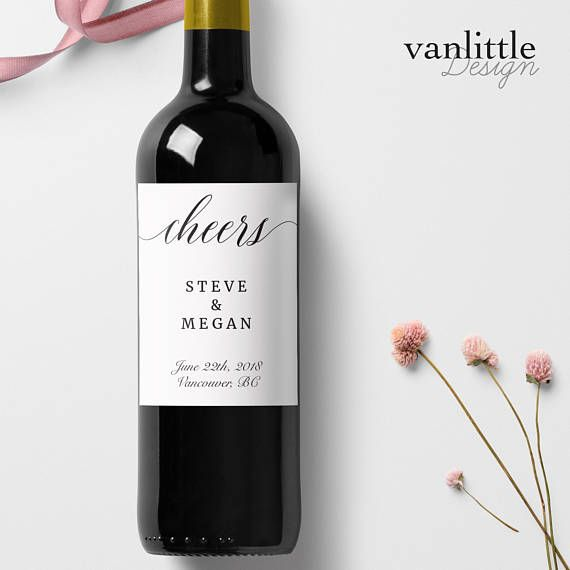 Custom Wedding Wine Labels Personalized Wine Label with