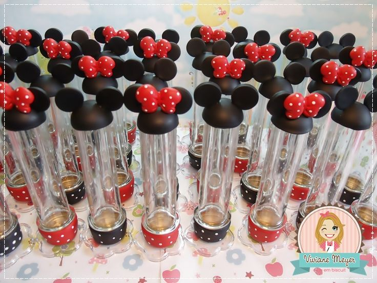 tubetes festa Mickey e Minnie. http://www.vivianemeyer.com.br/