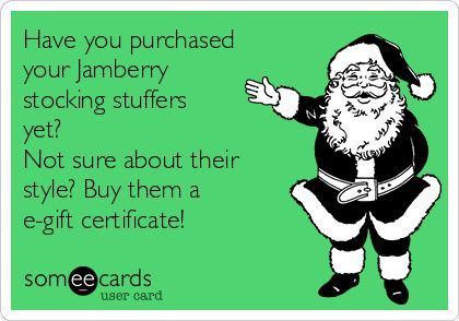 Have you purchased your Jamberry stocking stuffers yet? Not sure about their style? Buy them a e-gift certificate! | Christmas Season Ecard