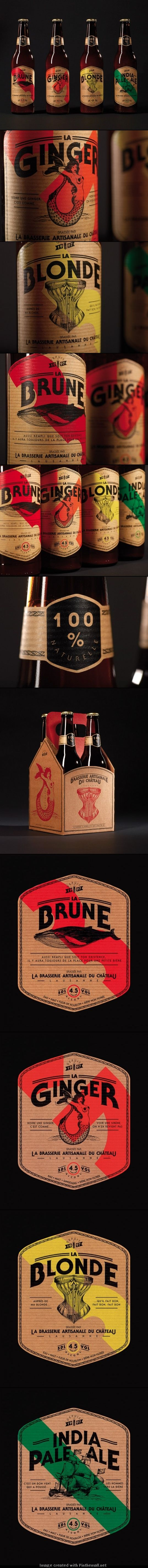 pinterest.com/fra411 #packaging #beer - La Brasserie du Château