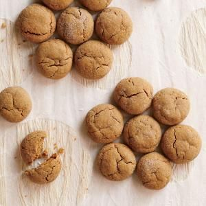 Chewy Molasses Cookies Recipe | Cooking Light #myplate #dairy