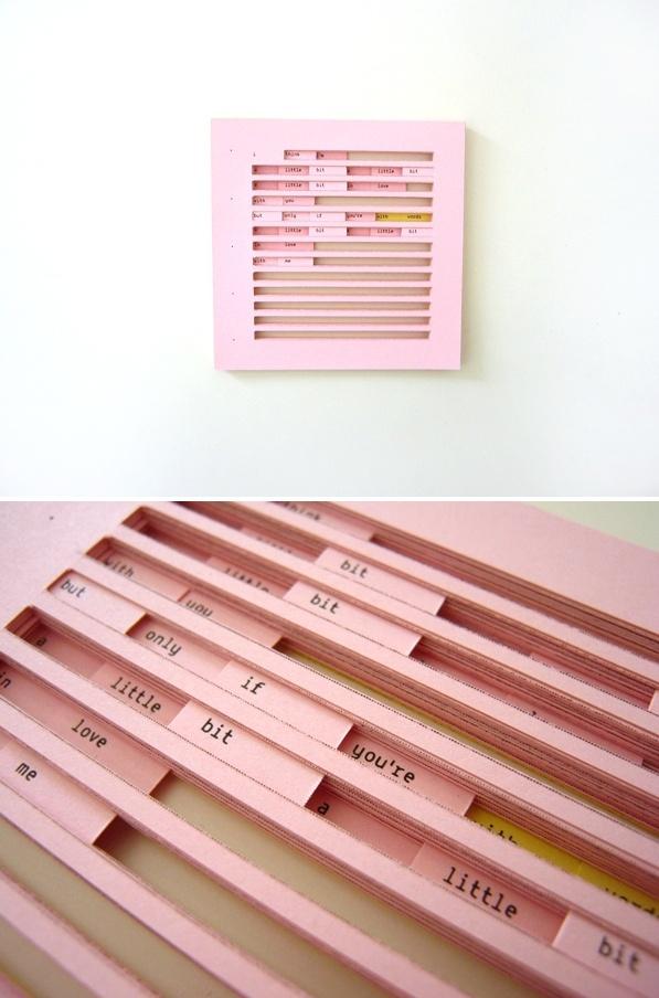 Nitzan Ron, Typo Cuts, 2009.