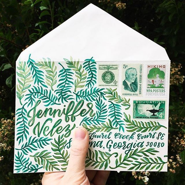 Insta Find | these hand lettered envelopes by @pbandjillian