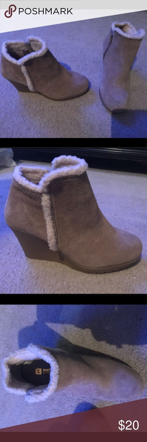 new White Mountain Boots Size 6 New tan & white, White Mountain Boots.  Size 6. White Mountain Shoes Ankle Boots & Booties