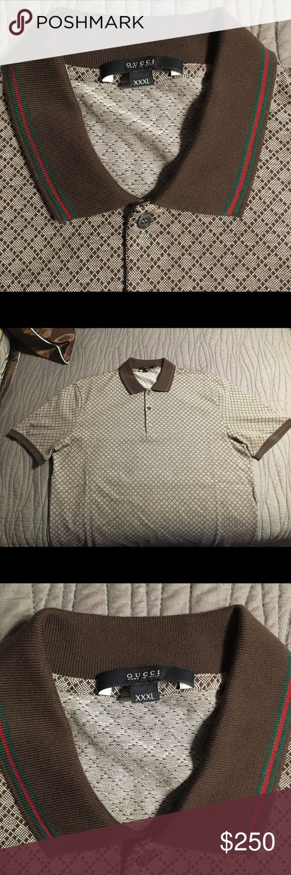 🆕 Gucci Diamante Polo XXXL Gucci Diamante polo shirt These run small so it fits like a XXL I took the tags off but never wore the shirt Bought from the west palm beach gardens gucci store Gucci Shirts Polos