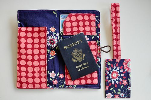 Passport Wallet and Luggage Tag tutorial