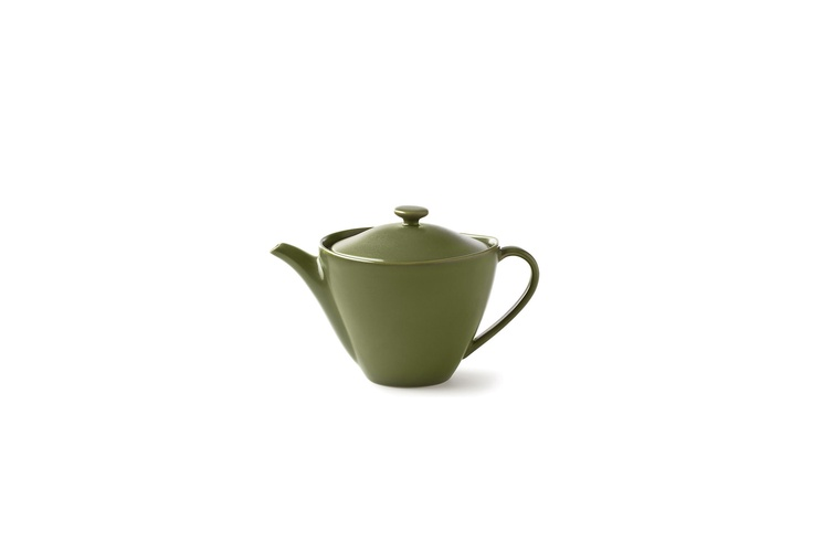 One Kings Lane - Diane von Furstenberg - Pebblestone Teapot, Avocado