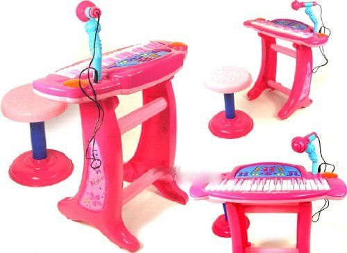 Kids Children Electric Piano Toy Karaoke Music Keyboard PINK by NUNEZ. $57.95. GREAT GIFT. LOADS OF FUN. SHIPS FAST. REALLY CUTE. You are viewing a Pink Color Kids Piano Musical Playset. It has awesome tones, and everything you need to get started. It's a perfect gift for any occasion. They can rock n' roll on a set of designed musical instrument.  Color: Pink  Removable Piano & Microphone  Karaoke & Speakers  Stop, Recording and Replay  Volume, Tempo and Demo...
