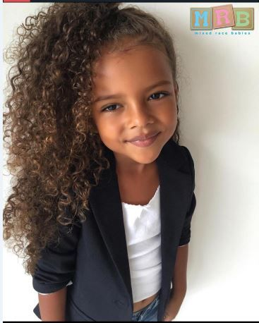 west indian caucasian and african american  mixed little