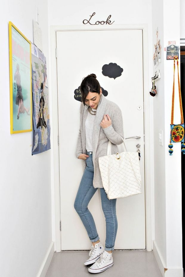 Jeans + allstar + tricô! Semana de Moda de Isabel Wilker - Revista TPM