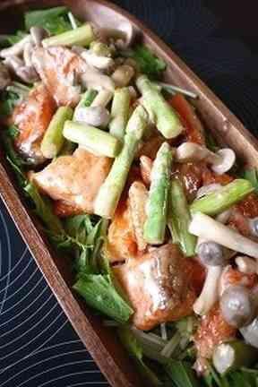 簡単美味しい!鮭としめじのマヨソース和えの画像 #鮭 #サーモン