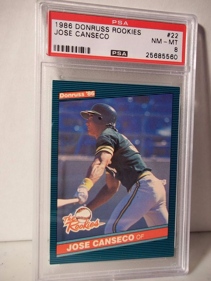 1986 donruss rookies jose canseco rc psa graded nmmt 8