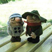 Куклы и игрушки ручной работы. Ярмарка Мастеров - ручная работа Валяные игрушки братья Колобки(мультяшки). Handmade.